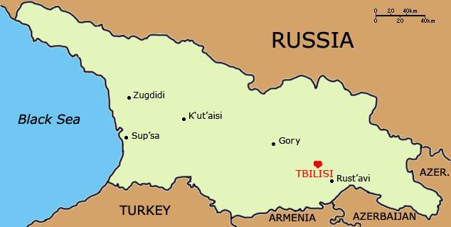 Tbilisi Georgia Map Afputra Com